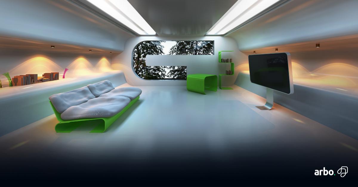 decoração-futurista