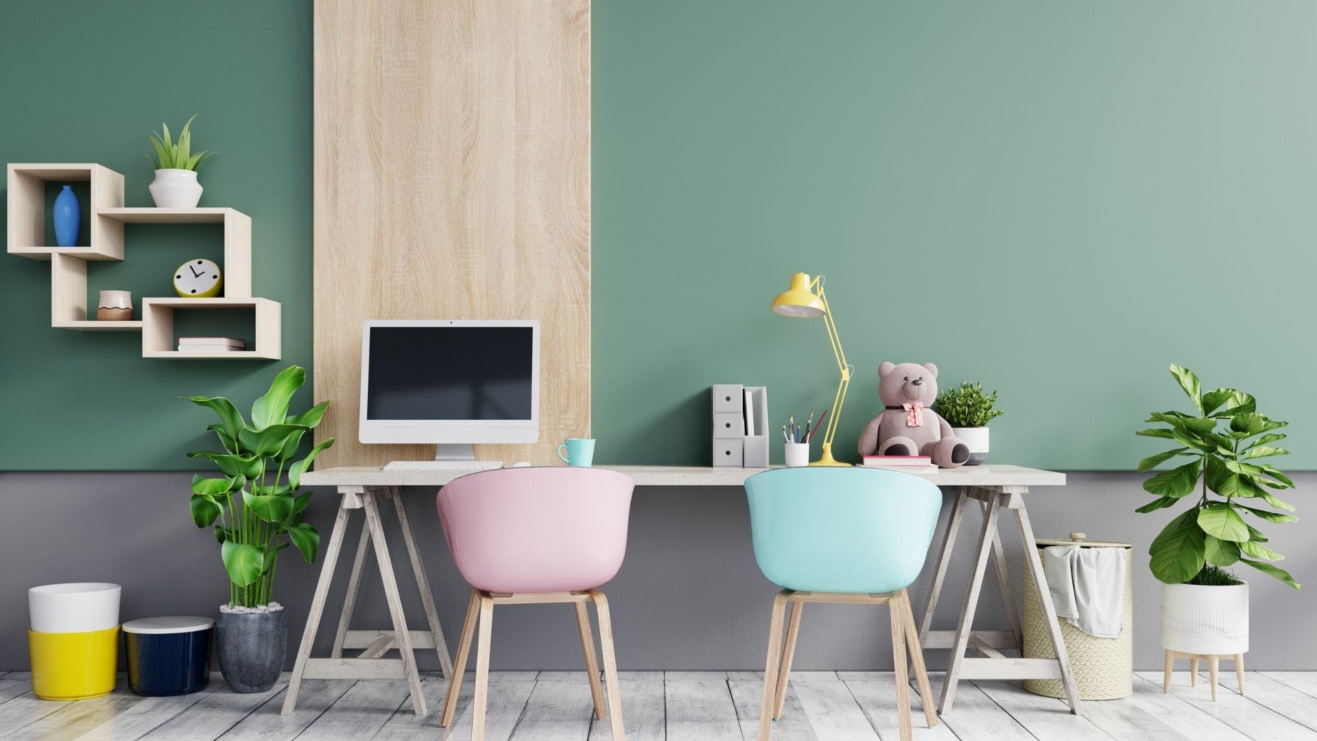 escritório na sala escolha dos móveis