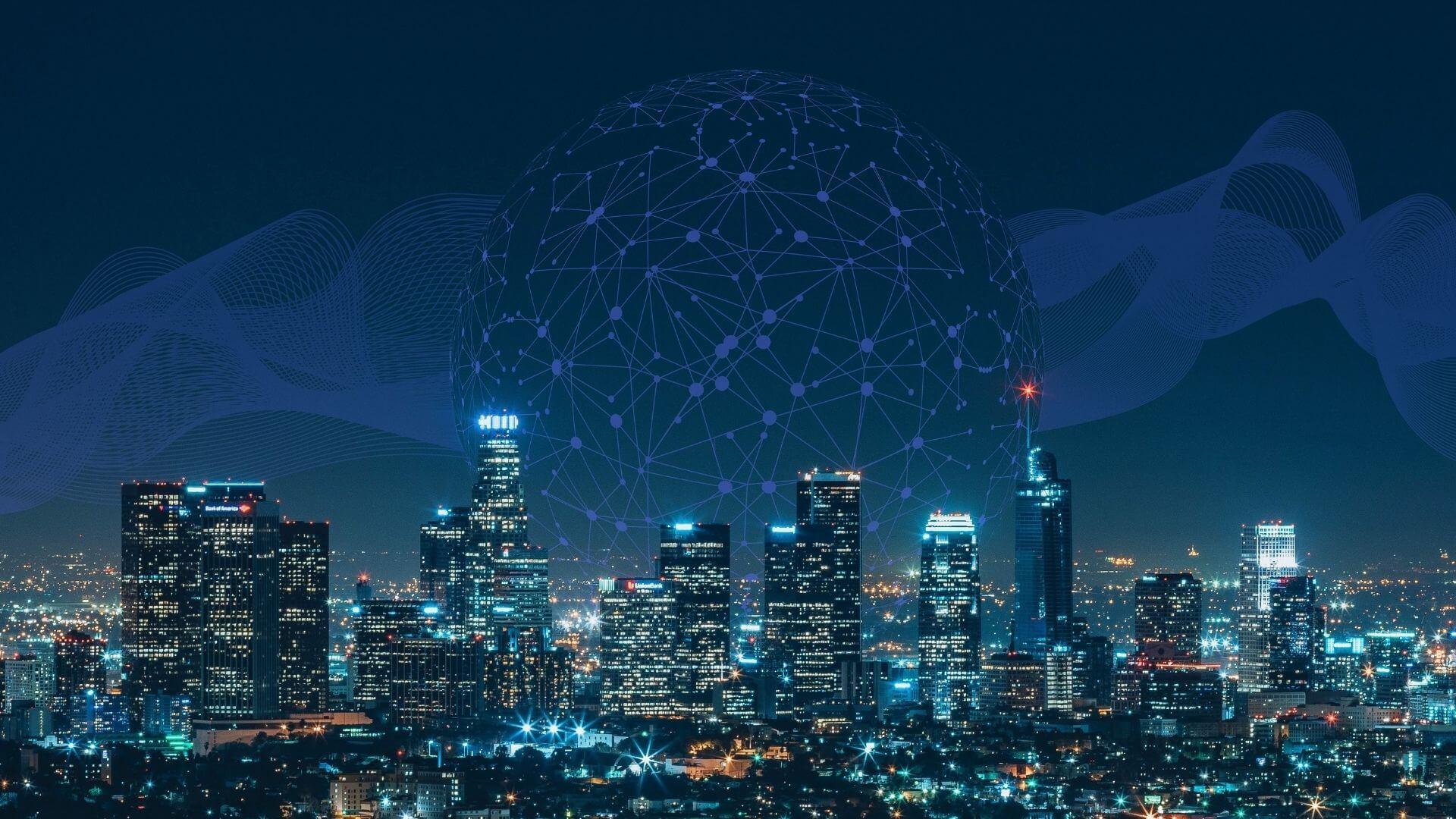 cidades inteligentes conceito