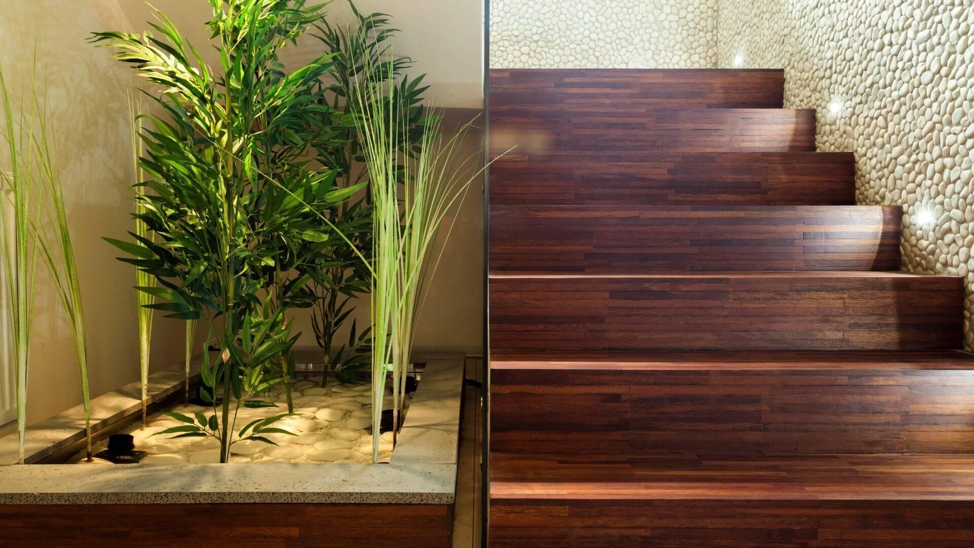 decoração de hall de entrada vasos plantas